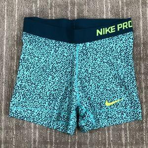 Nike Pro - Dri Fit Compression Shorts - Blue print